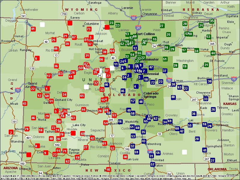 State Of Colorado Map View